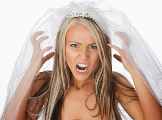 novia enojada